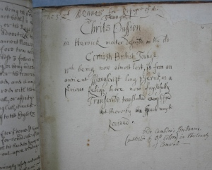 Passio Cristi page from Scawen